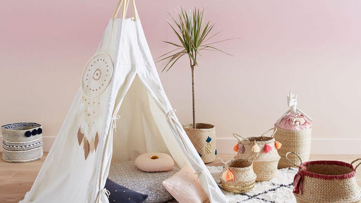 DIY tipi et tente pour la chambre d'enfant
