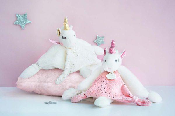 Doudou licorne bébé