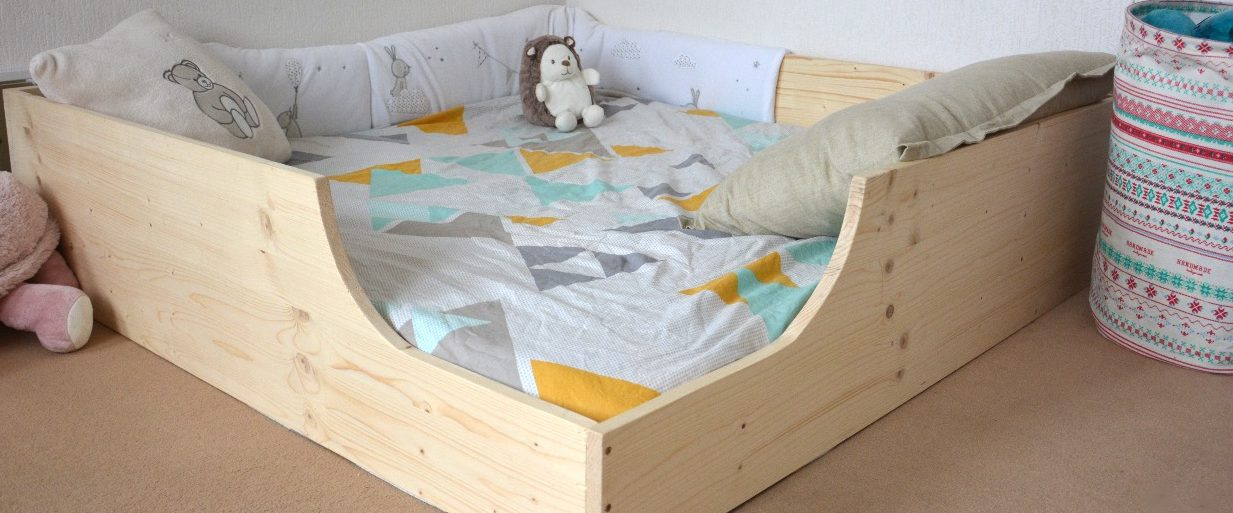 lit au sol cabane pour enfant